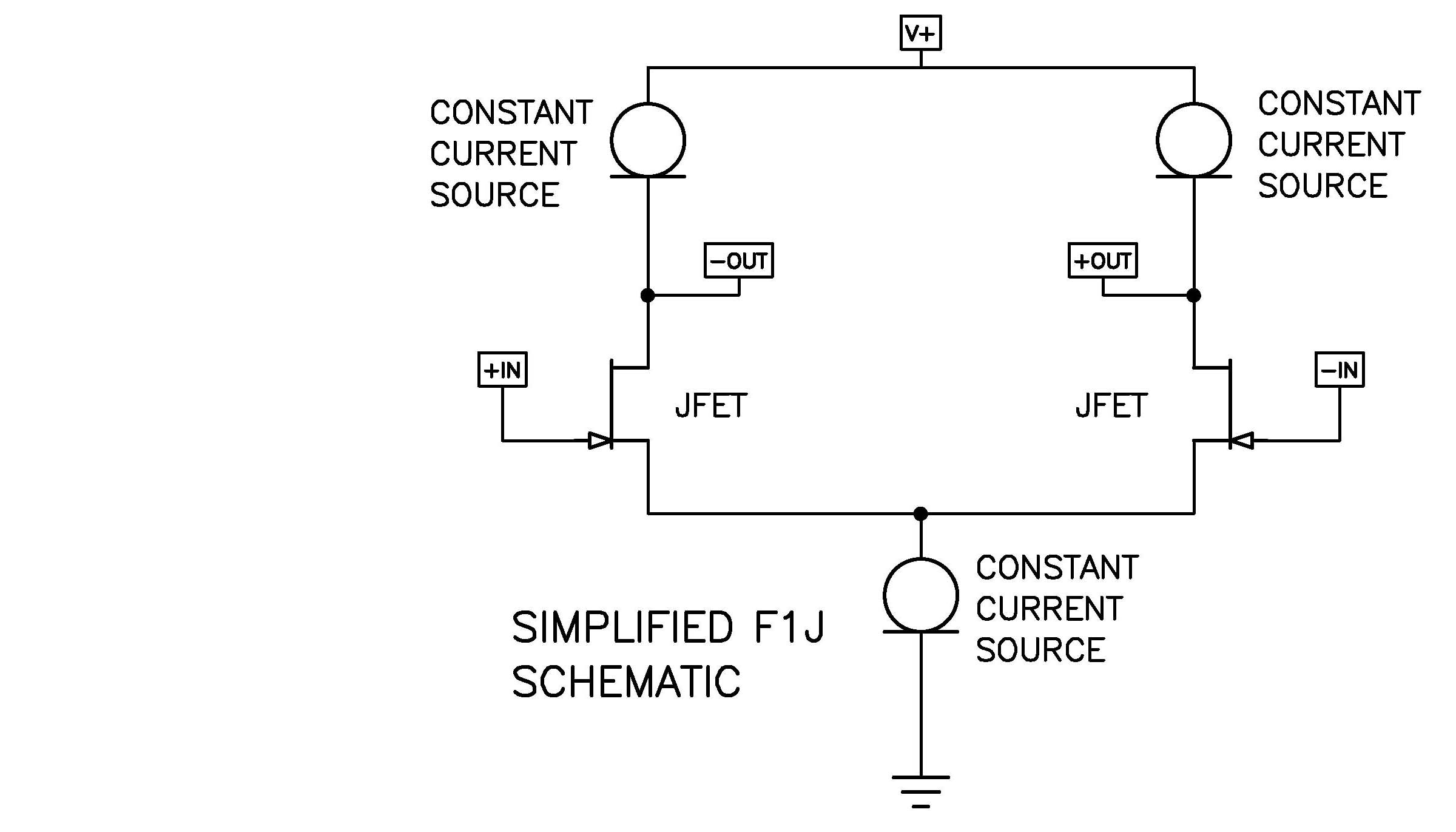 First Watt Constant Current Source Circuit In Addition There Have Been Changes To Several Resistor Values And Removal Of The Input Zener Protection Diodes As With F1 Simplified