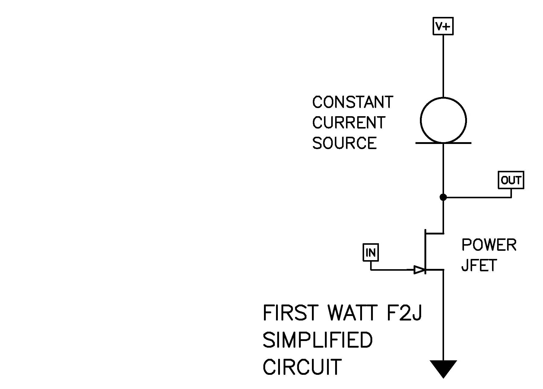 First Watt Current Amplifier Circuit Transistor In Addition There Have Been Changes To Several Resistor Values And Removal Of The Input Zener Protection Diodes As With F2 Simplified
