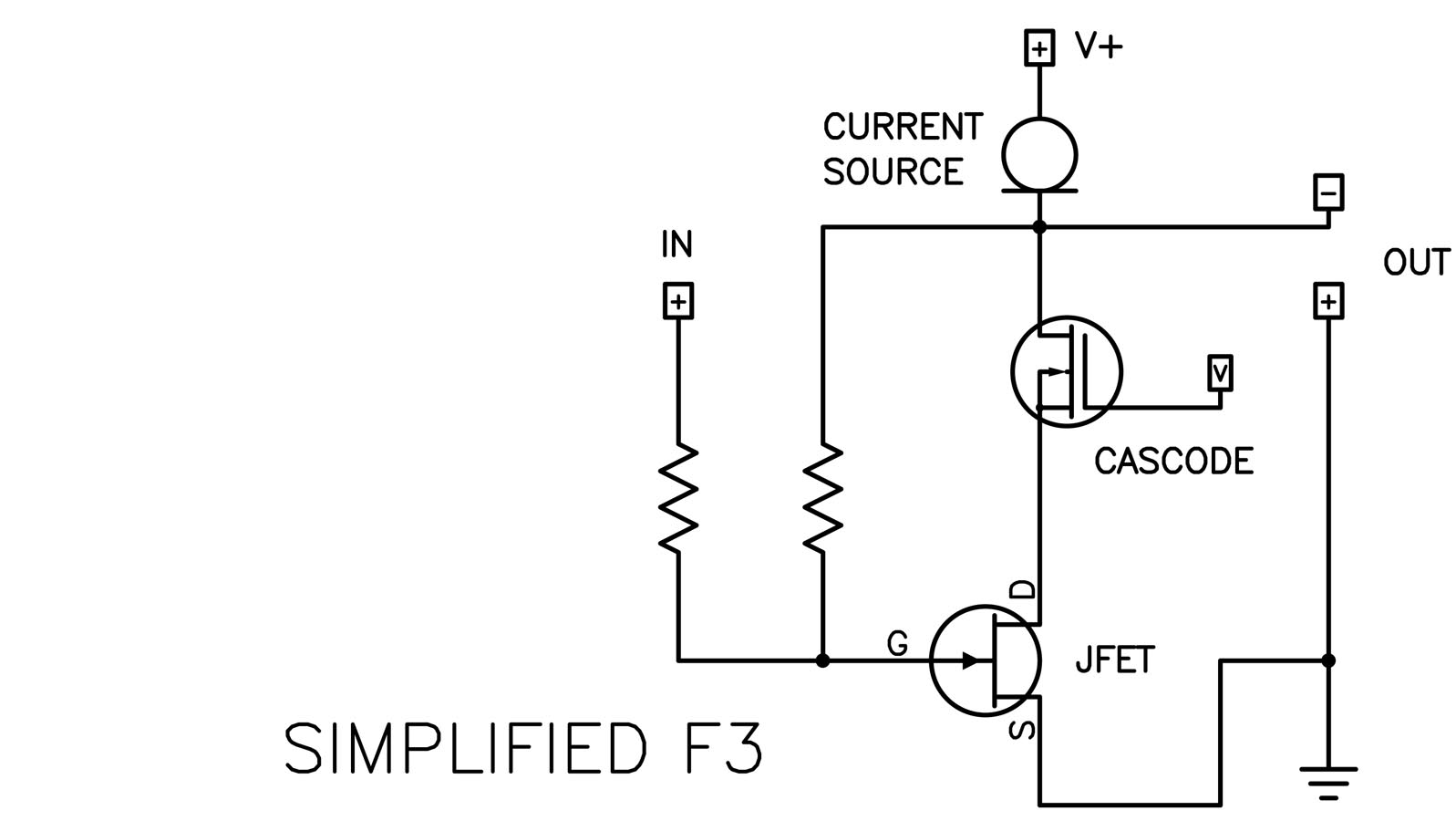 First Watt Stereo Power Audio Amplifier Circuit And Explanation Diagram Source